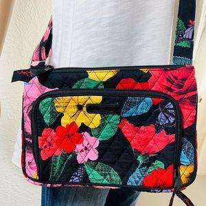 EUC Vera Bradley Black Floral Crossbody Bag